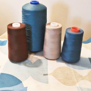 4 Spools of Thread with Jonathan Adler Remnants
